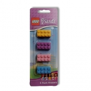 Lego Friends 4 Pack Eraser Stationery