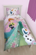 Disney Frozen 'Fever' Reversible Panel Single Bed Duvet Quilt Cover Set