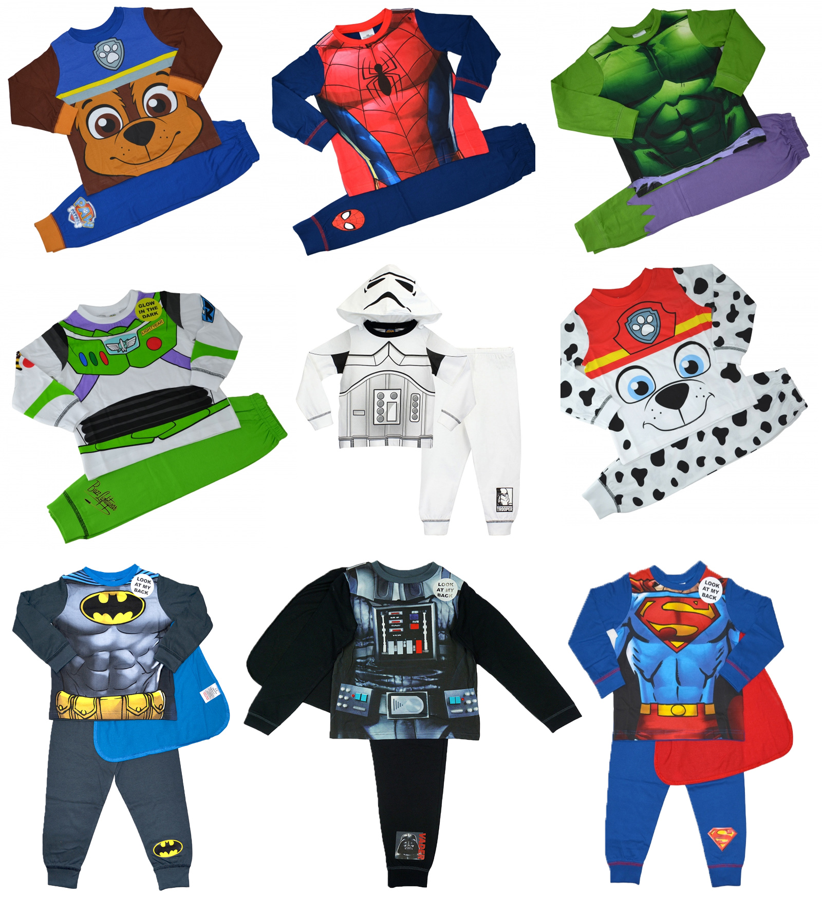 2pcs Boys Toddler Kids Superhero Outfits Set Pajamas Sleepwear Pyjamas Nightwear