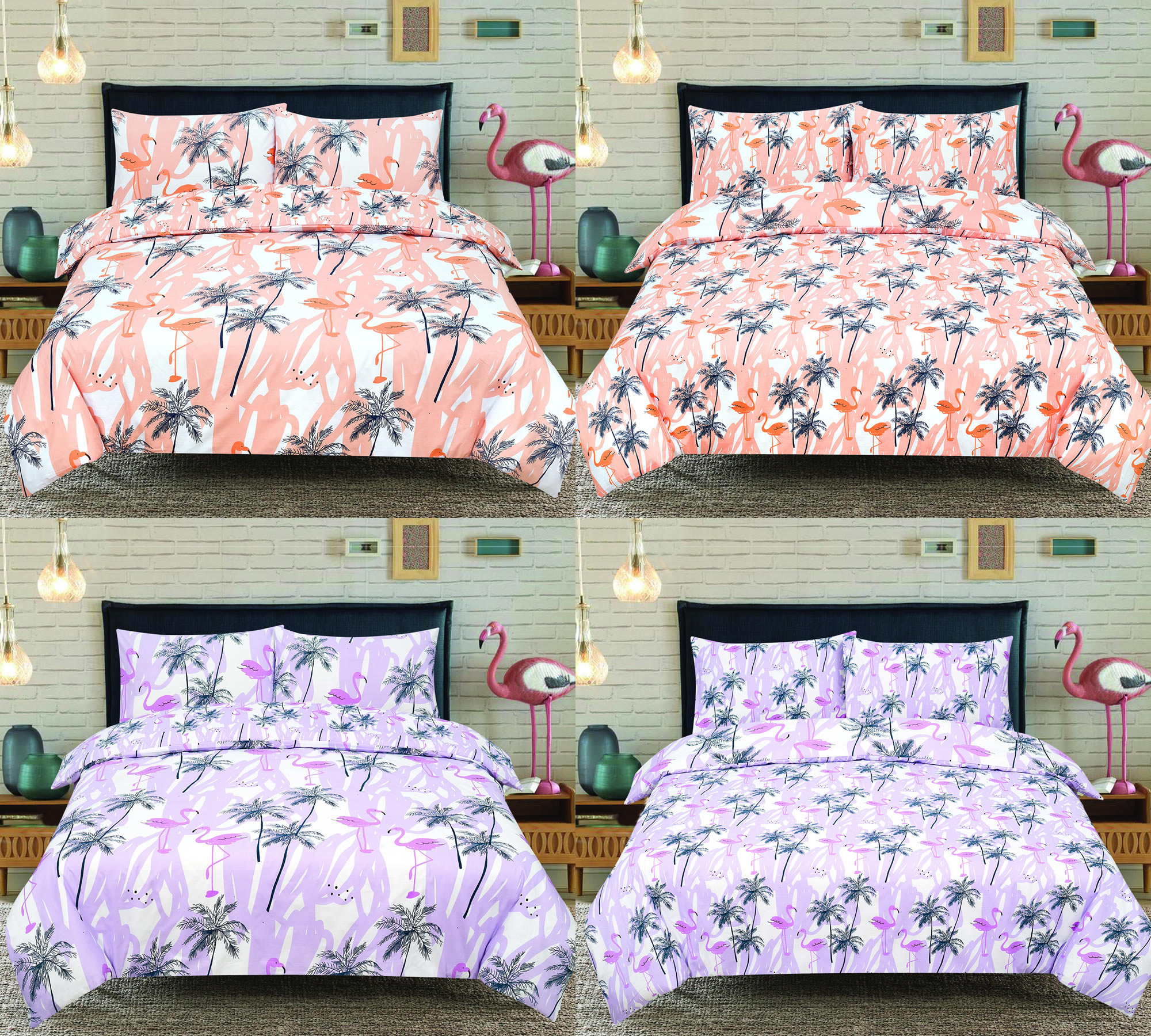 Bird Print Double Duvet Cover Sweetgalas